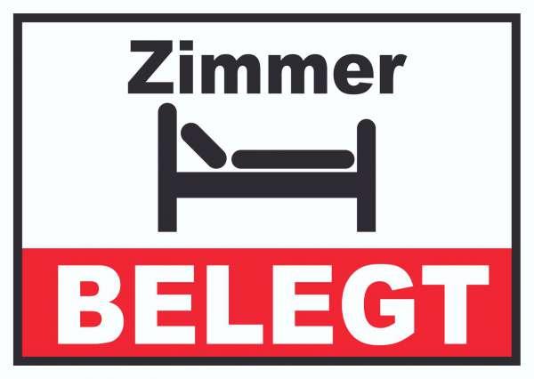 Zimmer BELEGT Schild