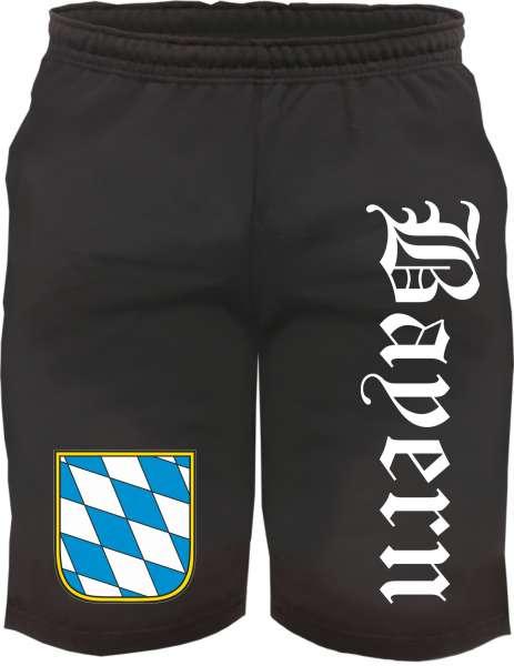 Bayern Sweatshorts - Altdeutsch bedruckt - Kurze Hose Shorts Wappen