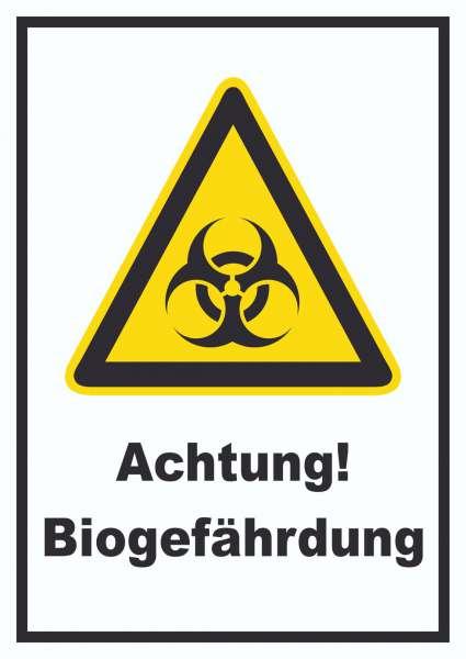 Achtung Biogefährdung Schild
