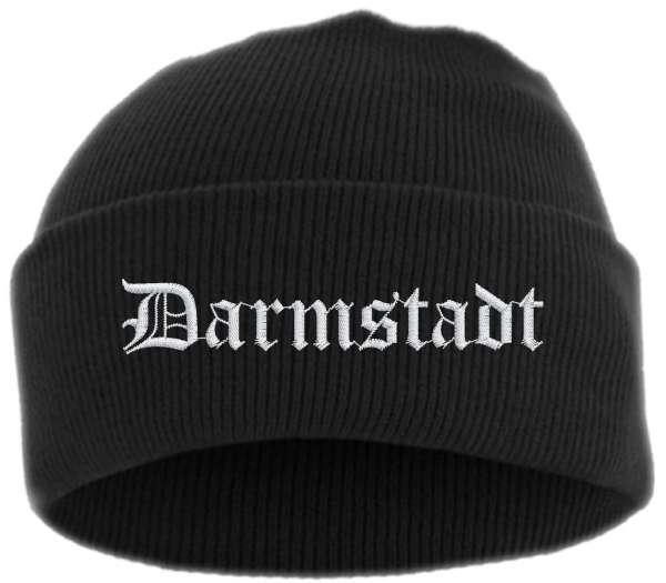 Darmstadt Umschlagmütze - Altdeutsch - Bestickt - Mütze mit breitem Umschlag