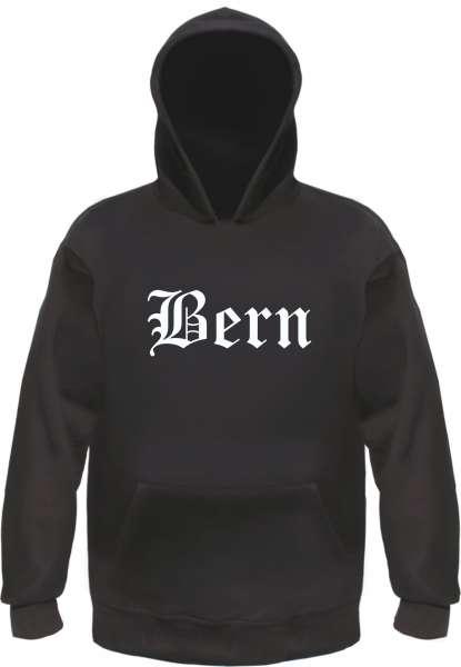 Bern Kapuzensweatshirt - Altdeutsch bedruckt - Hoodie Kapuzenpullover