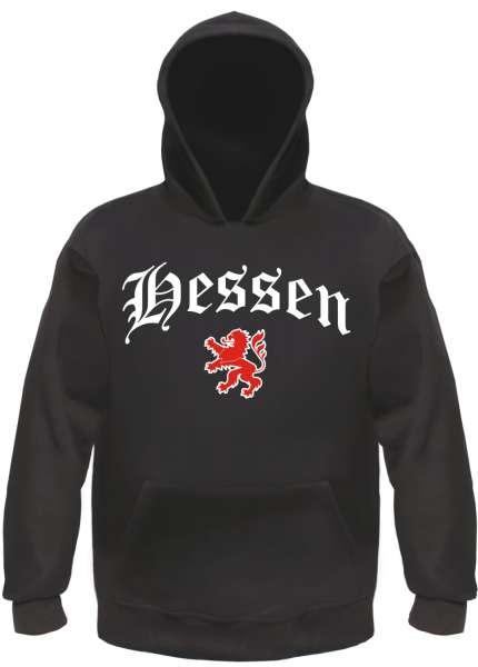 Hessen Kapuzensweatshirt - Altdeutsch - bedruckt - Hoodie Kapuzenpullover