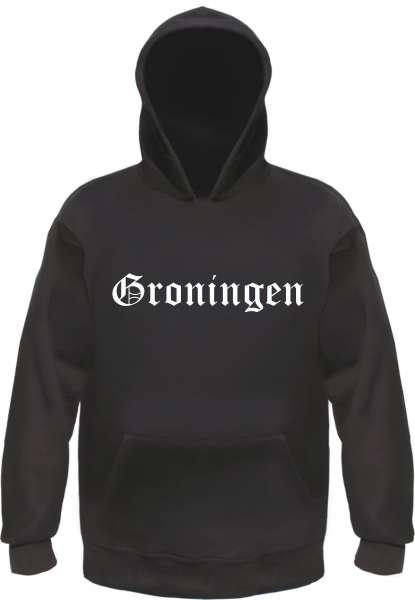 Groningen Kapuzensweatshirt - Altdeutsch bedruckt - Hoodie Kapuzenpullover
