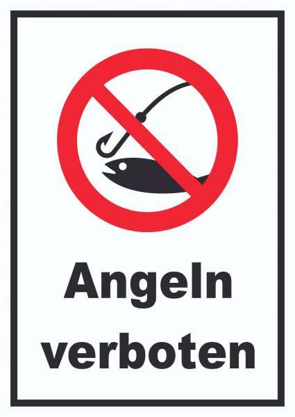Angeln verboten Schild