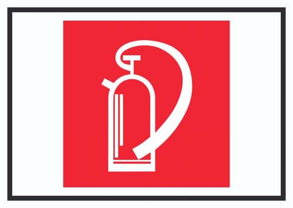 Feuerlöschgerät Symbol Schild