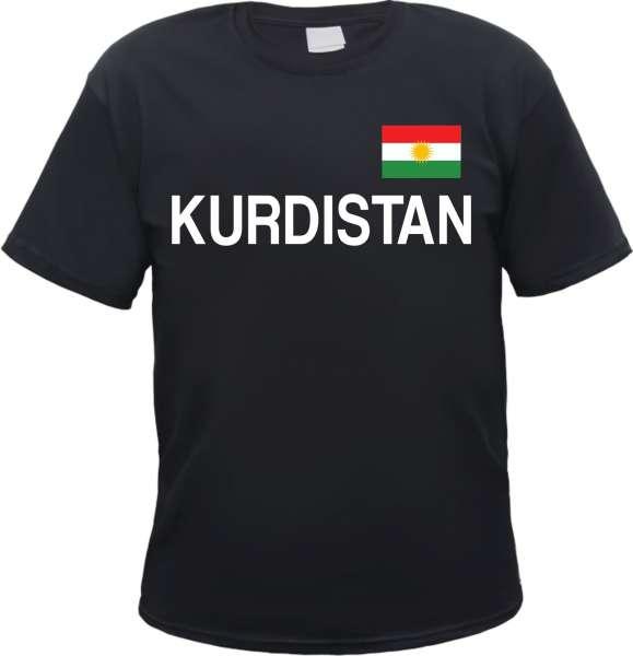 Kurdistan T-Shirt mit Flagge