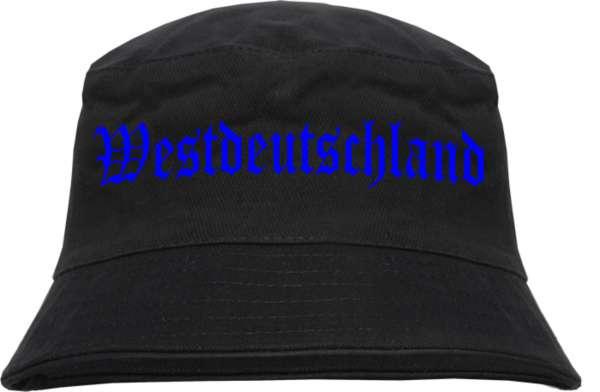 Westdeutschland Fischerhut - Druckfarbe Blau - Bucket Hat