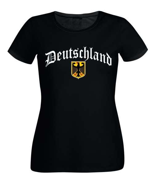 Deutschland mit Wappen Damen T-Shirt Germany