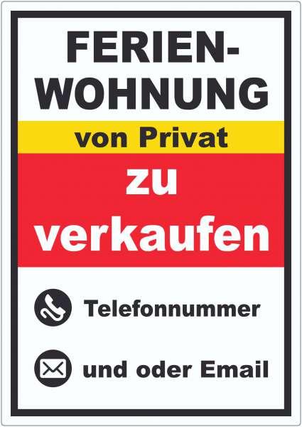 Ferienwohnung zu verkaufen von Privat Hochkant Aufkleber