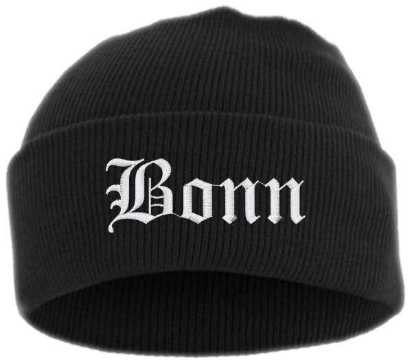 Bonn Umschlagmütze - Altdeutsch - Bestickt - Mütze mit breitem Umschlag
