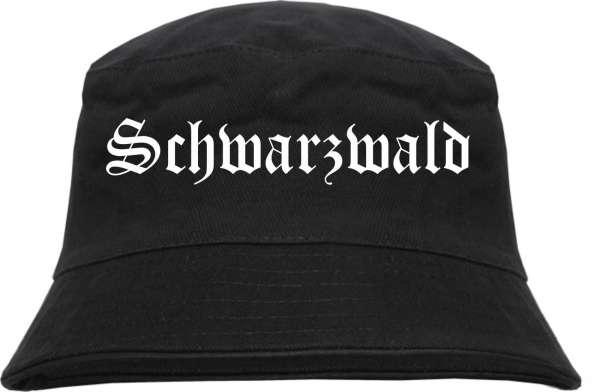 Schwarzwald Fischerhut - Altdeutsch - bedruckt - Bucket Hat Anglerhut Hut