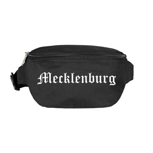 Mecklenburg Bauchtasche - Altdeutsch bedruckt - Gürteltasche Hipbag