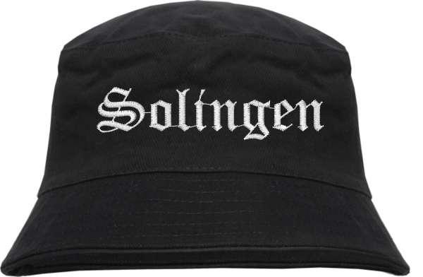 Solingen Fischerhut - Altdeutsch - bestickt - Bucket Hat Anglerhut Hut