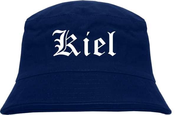Kiel Fischerhut - Dunkelblau - Altdeutsch - bedruckt - Bucket Hat Anglerhut Hut