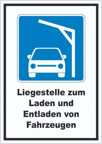 Liegestelle zum Laden von PKWs Autos aufladen Symbol und Text Aufkleber