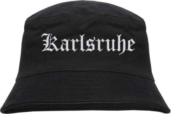 Karlsruhe Fischerhut - Altdeutsch - bestickt - Bucket Hat Anglerhut Hut