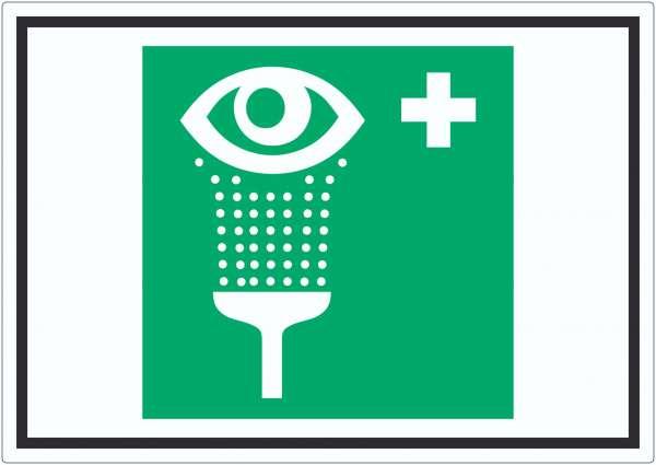 Augenspülstation Symbol Aufkleber