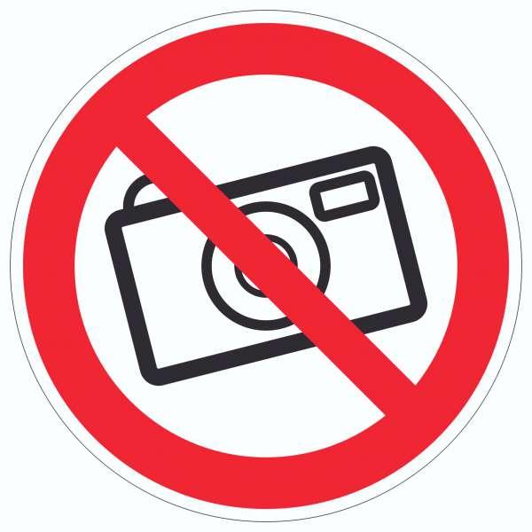 Fotografieren verboten Aufkleber Kreis Keine Photos