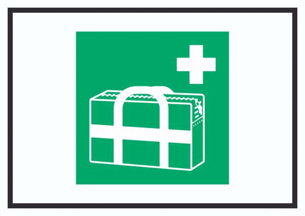 Medizinischer Notfallkoffer Symbol Schild