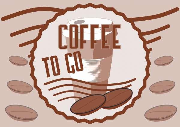 Verkaufsschild Schild Coffee to go