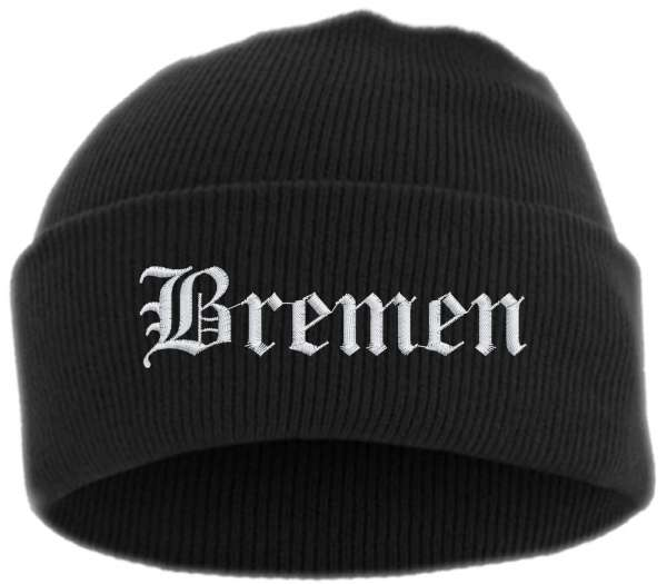 Bremen Umschlagmütze - Altdeutsch - Bestickt - Mütze mit breitem Umschlag