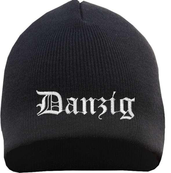 Danzig Beanie Mütze - Altdeutsch - Bestickt - Strickmütze Wintermütze