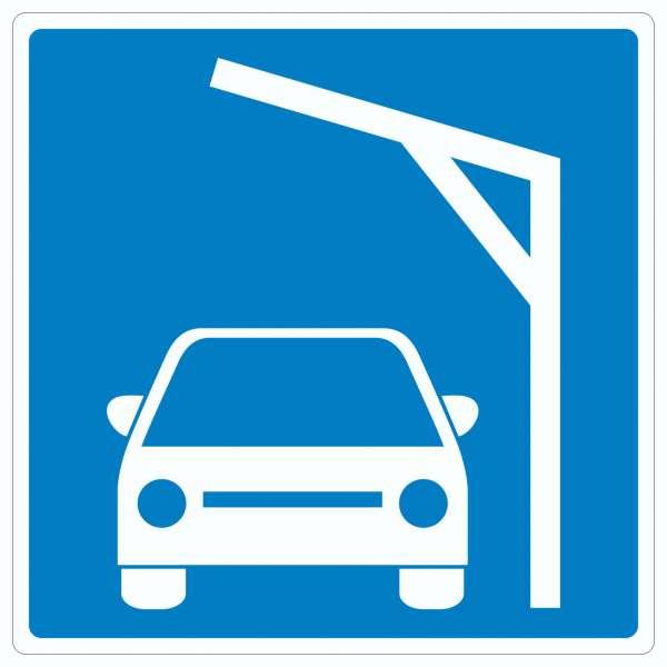 Liegestelle zum Laden von PKWs Autos aufladen Symbol
