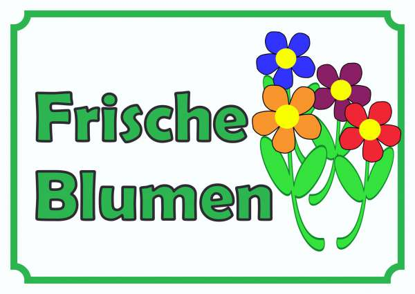 Verkaufsschild Schild Blumen