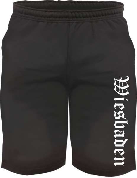 Wiesbaden Sweatshorts - Altdeutsch bedruckt - Kurze Hose Shorts