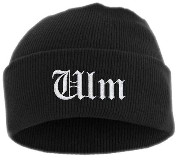 Ulm Umschlagmütze - Altdeutsch - Bestickt - Mütze mit breitem Umschlag