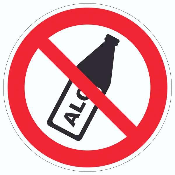 Alkohol verbot Aufkleber Kreis