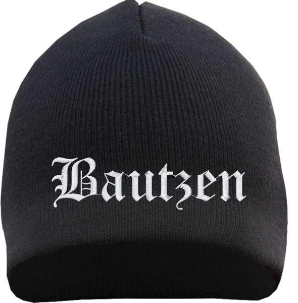 Bautzen Beanie Mütze - Altdeutsch - Bestickt - Strickmütze Wintermütze
