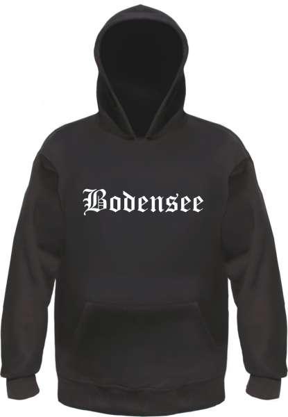 Bodensee Kapuzensweatshirt - Altdeutsch - bedruckt - Hoodie Kapuzenpullover