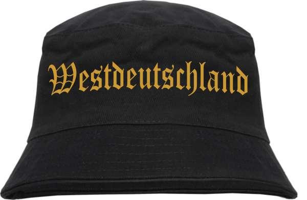 Westdeutschland Fischerhut - Druckfarbe Gold - Bucket Hat