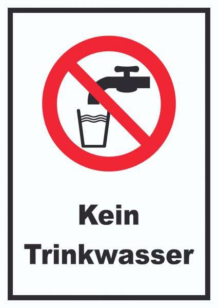 Kein Trinkwasser Schild Nicht Trinken