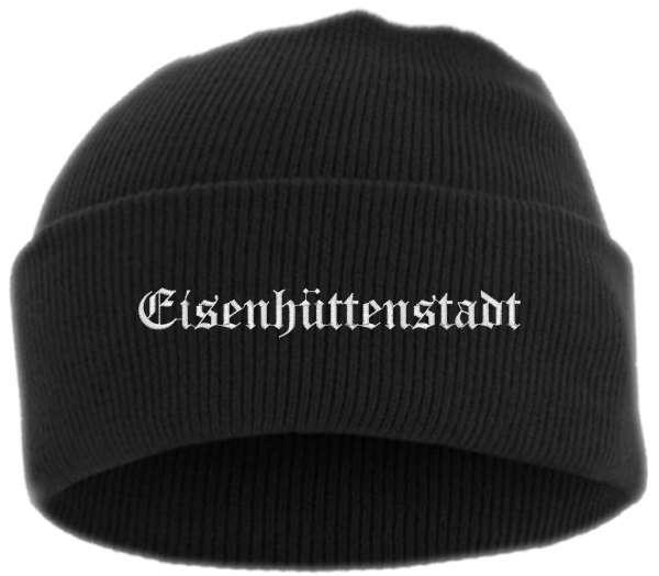 Eisenhüttenstadt Umschlagmütze - Altdeutsch - Bestickt - Mütze mit breitem Umschlag