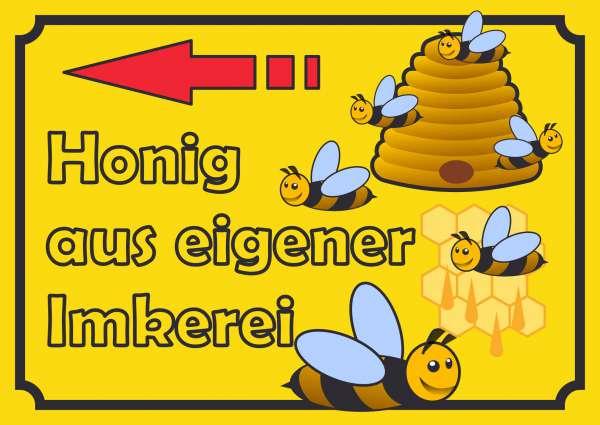 Verkaufsschild Schild Honig links