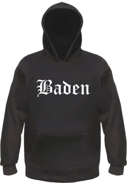 Baden Kapuzensweatshirt - Altdeutsch - bedruckt - Hoodie Kapuzenpullover
