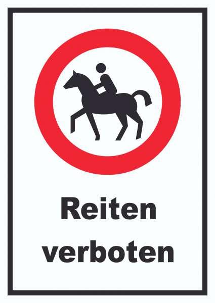 Reiten verboten Schild