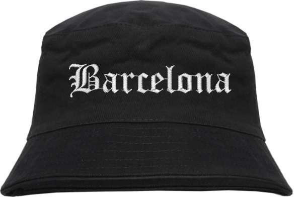 Barcelona Fischerhut - Altdeutsch - bestickt - Bucket Hat Anglerhut Hut