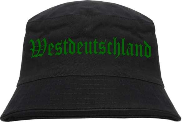 Westdeutschland Fischerhut - Druckfarbe Grün - Bucket Hat