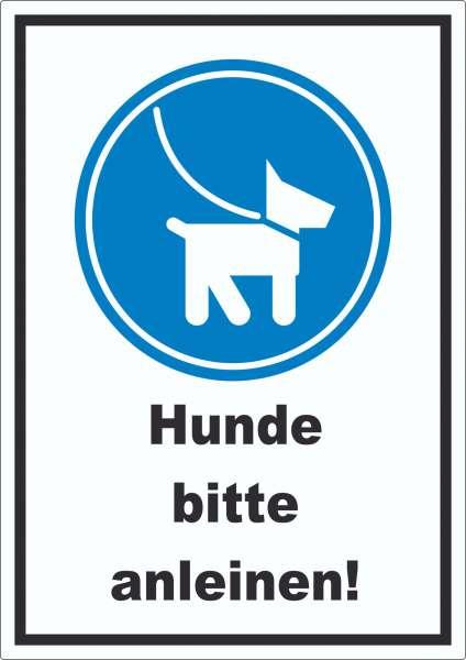 Hunde bitte anleinen Aufkleber