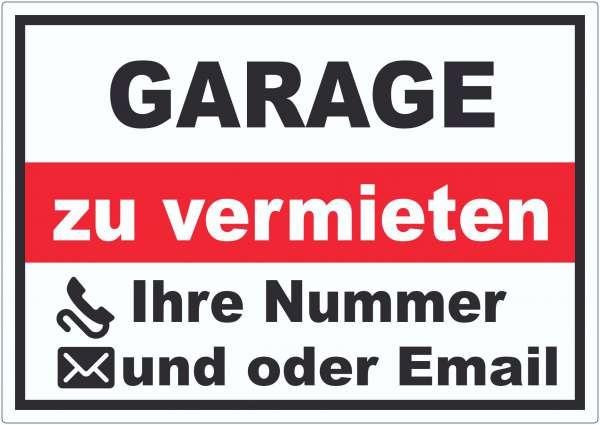 Garage zu vermieten Aufkleber
