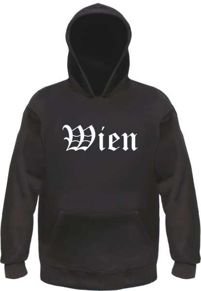 Wien Kapuzensweatshirt - Altdeutsch bedruckt - Hoodie Kapuzenpullover