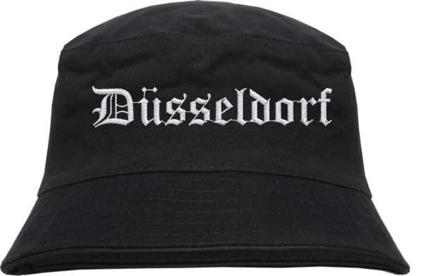 Düsseldorf Fischerhut - Altdeutsch - bestickt - Bucket Hat Anglerhut Hut