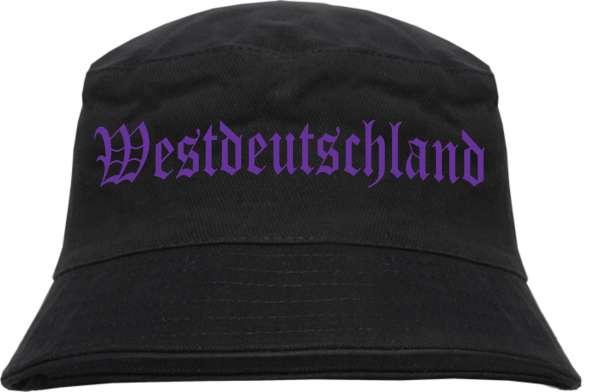 Westdeutschland Fischerhut - Druckfarbe Lila - Bucket Hat
