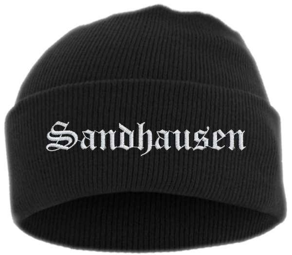 Sandhausen Umschlagmütze - Altdeutsch - Bestickt - Mütze mit breitem Umschlag