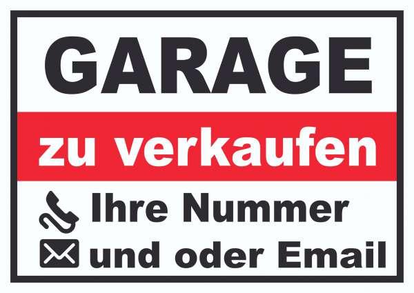 Garage zu verkaufen Schild
