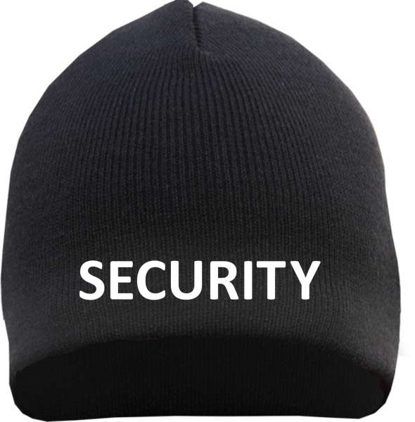Security Beanie - bestickt - Mütze