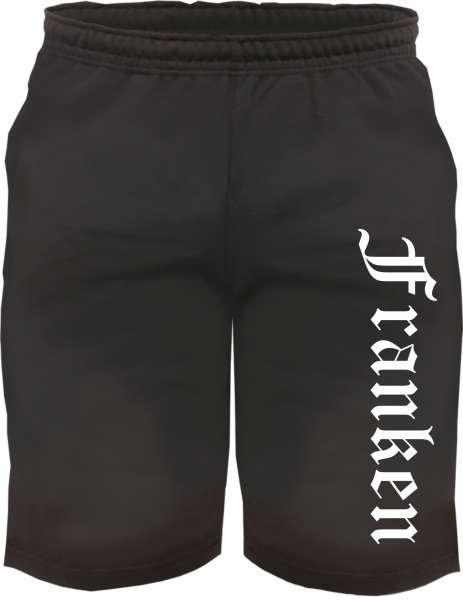 Franken Sweatshorts - Altdeutsch bedruckt - Kurze Hose Shorts